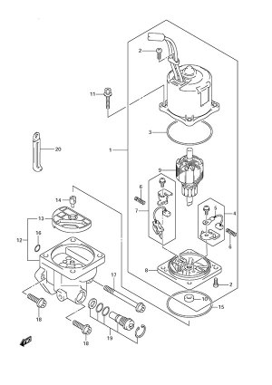 Fig 34  PTT Motor  Suzuki DF 175 Parts Listings  2006 to SN 17502F11XXXX  2006 to SN