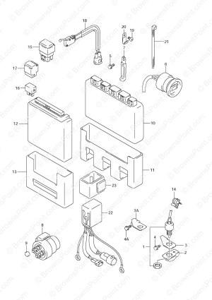 Fig, 34  Engine Control Unit  Suzuki DF 70 Parts