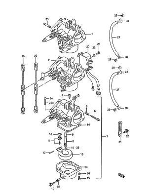 Fig 4  Carburetor  Suzuki DT 75 Parts Listings  1988