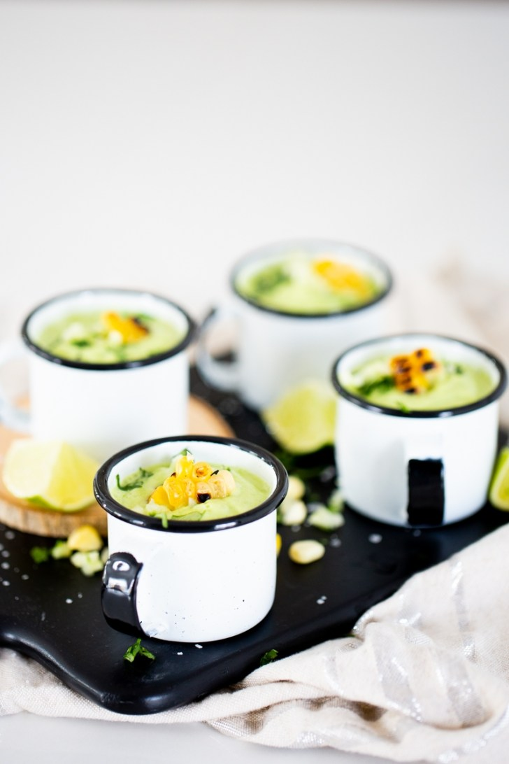 avocado and cucumber cold soup