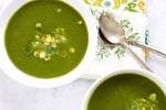Cream of poblano chili and spinach soup