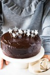 double chocolate vegan birthday cake