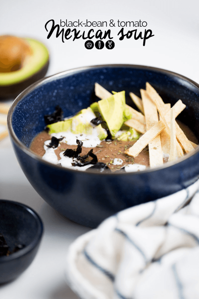 Mexican black bean and tomato soup