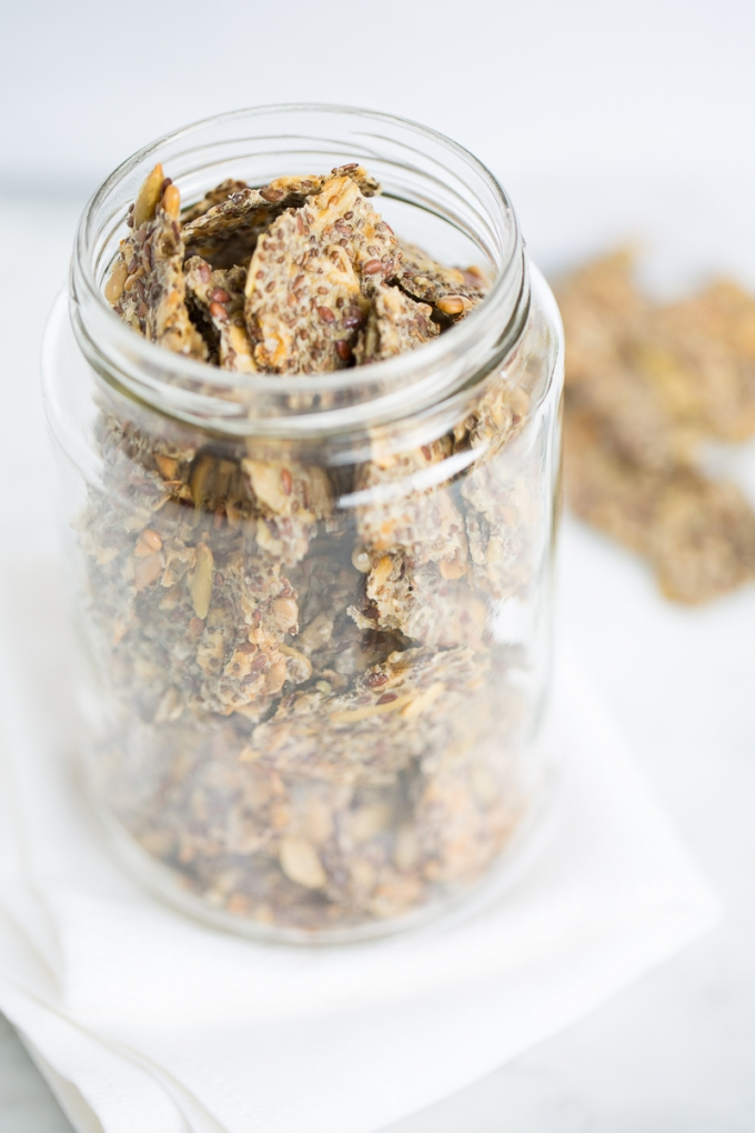 Crackers with chia and other seeds
