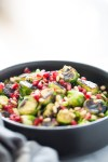 Roasted Brussels sprouts with agave Dijon vinaigrette