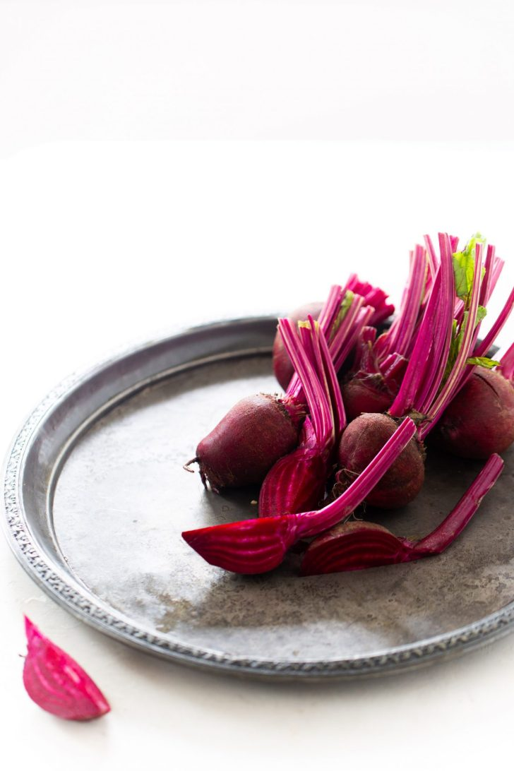 Beets on a platter