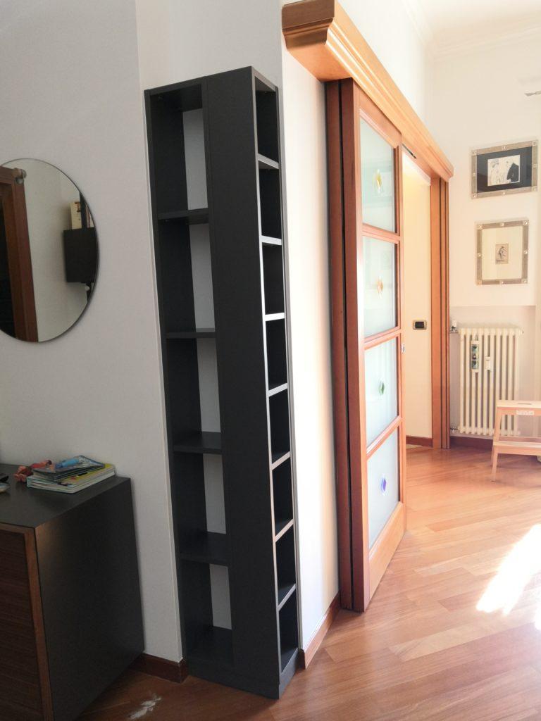 libreria laccata a campione