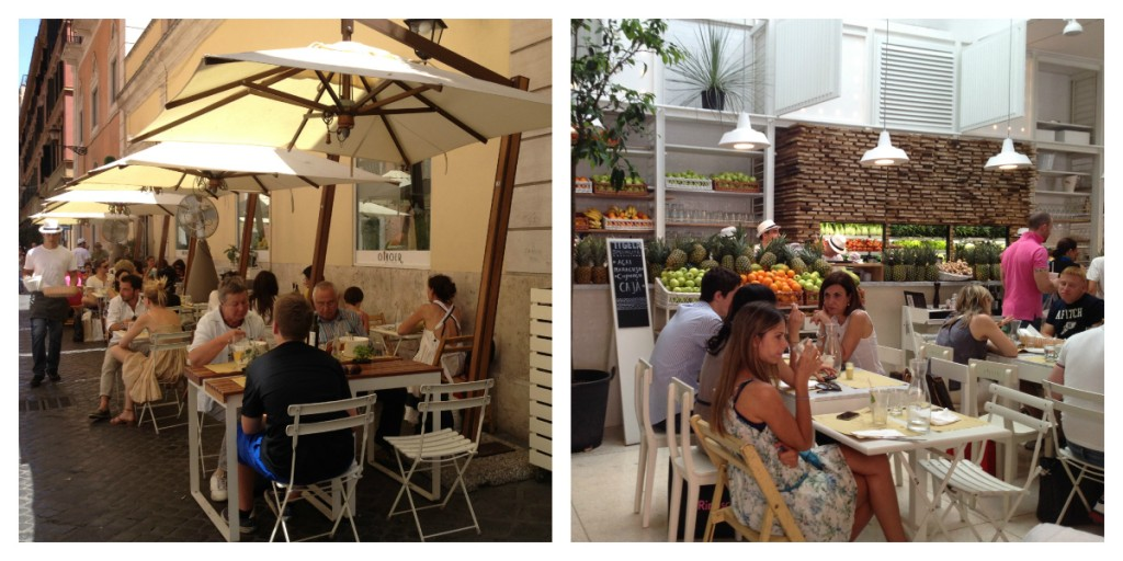 Places to Eat in Rome, Italy - Ginger - Seating Areas
