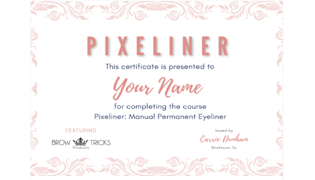 Pixeliner Manual liner Course by: Carrie D.  +LIPS!