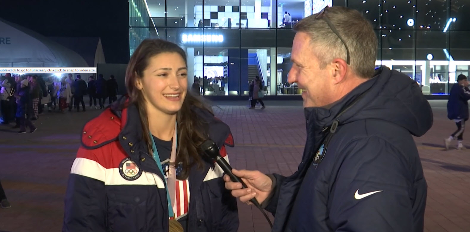 Jack talks with Olympic gold medalist Megan Heller of Team USA Hockey_1519345658576.jpg-54729046.jpg