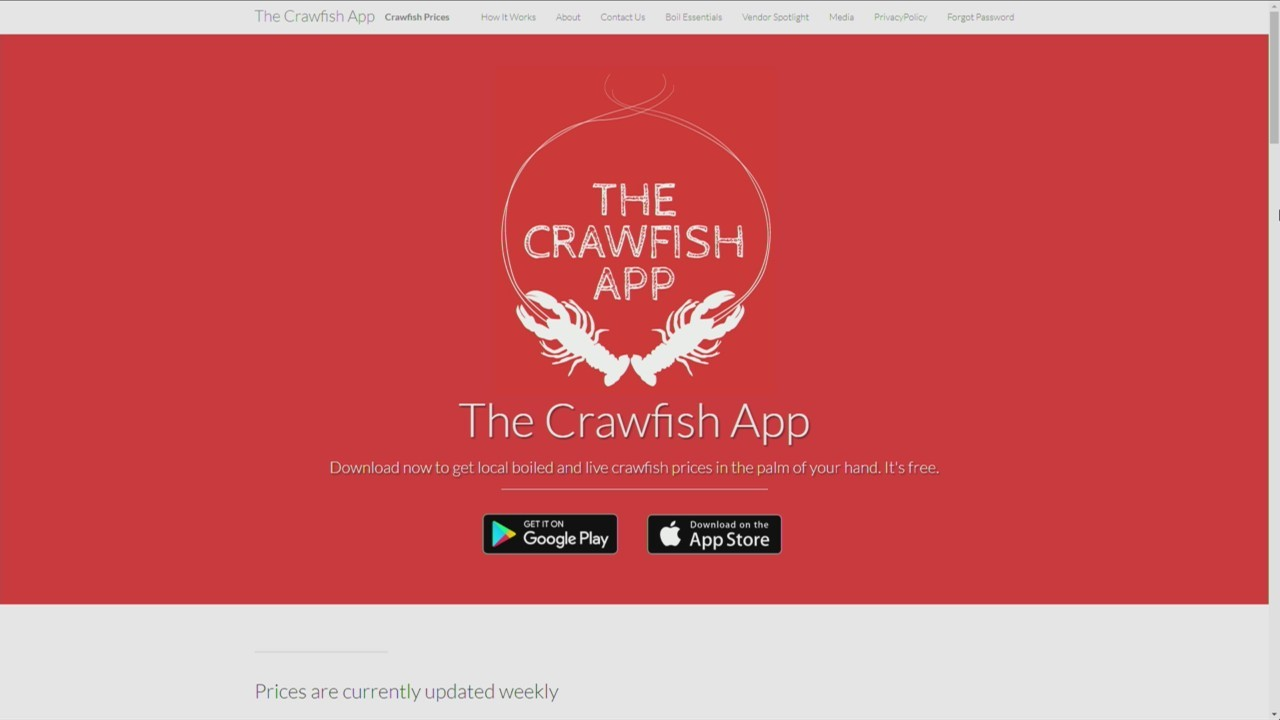 'The Crawfish App' tracking crawfish prices and trends this holiday weekend