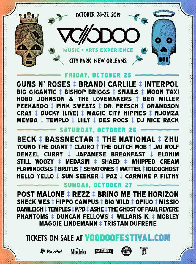 Voodoo Fest releases daily lineup | BRProud com | WVLA | WGMB