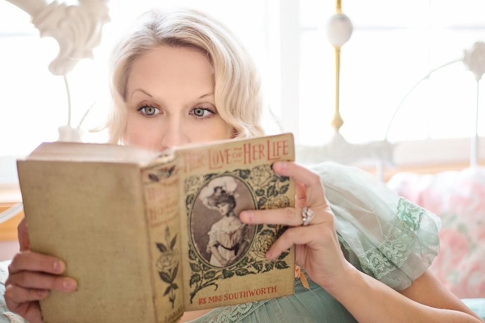 reading romance book