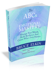 A 3-D photo of the book The ABCs of Emotional Mastery, by Bruce Elkin.