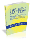 A 3-D photo of the book Emotional Mastery, by Bruce Elkin.