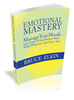 Graphic of the Emotional Mastery book, by Bruce Elkin.