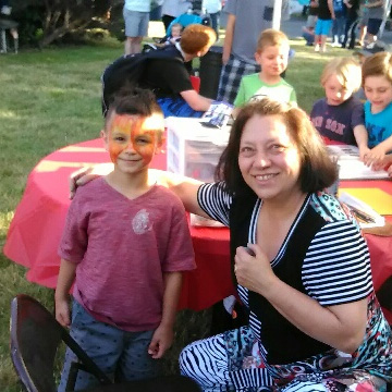 Face painting with Lady Jane
