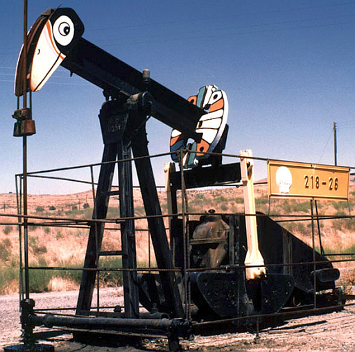 Small oil well in America