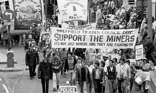 Protesting miners.