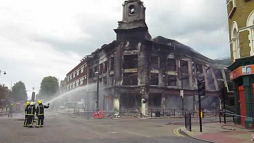 The morning after the riots.