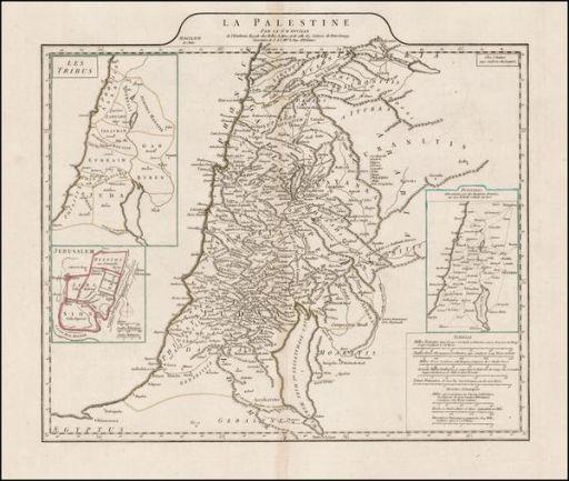 Palestine map 1767 512