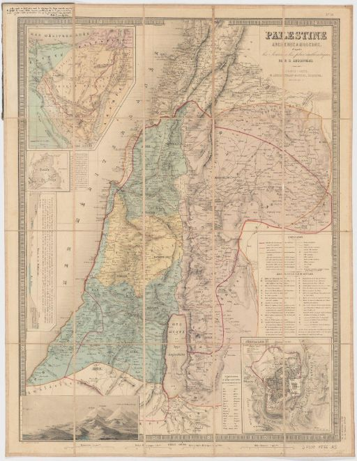 Palestine map 1876 512