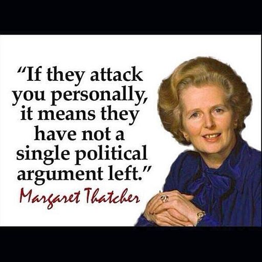 Thatcher personal attack 512