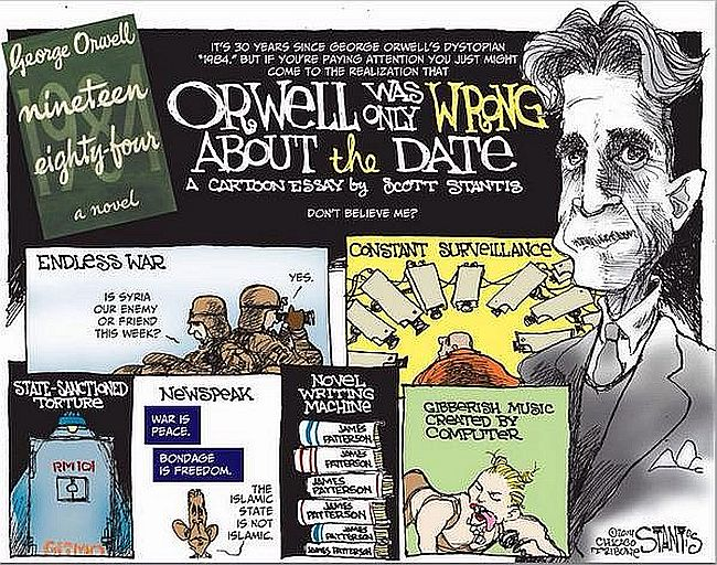 Orwell wrong about the date 650
