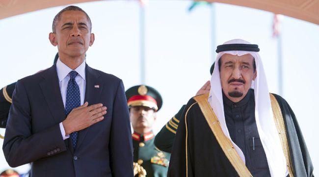 Saudi dictator with POTUS