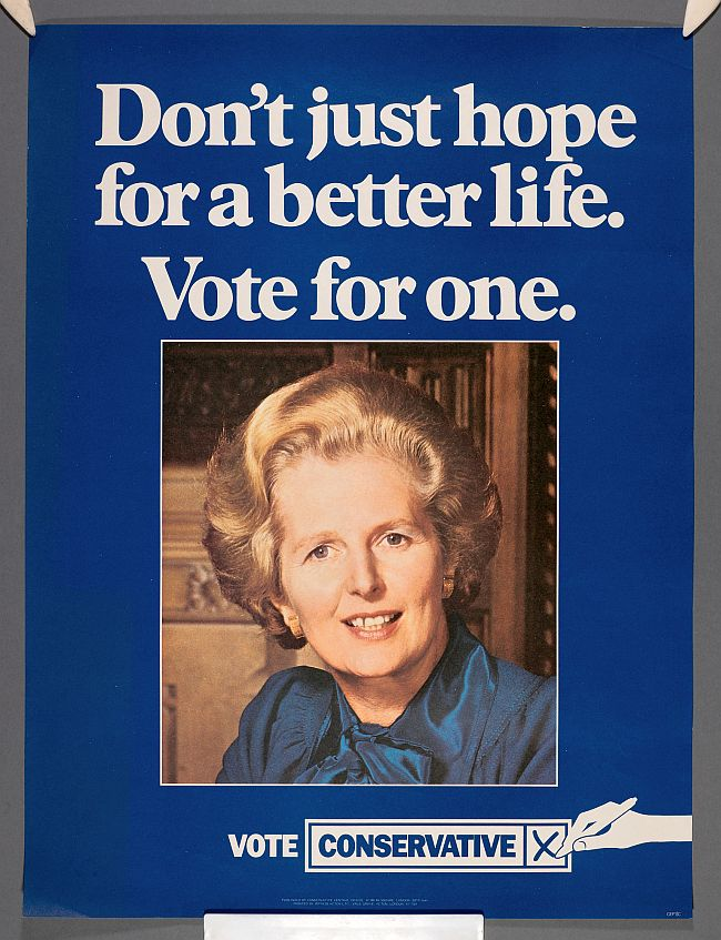 Thatcher vote for a better life 650
