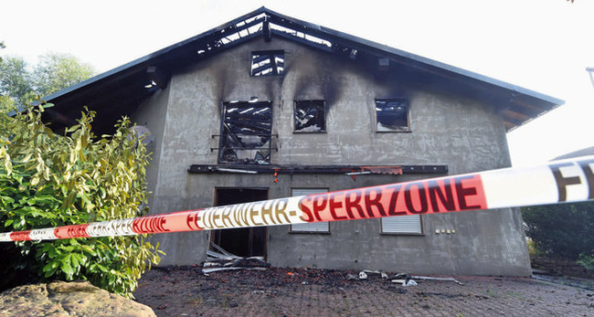 German migrant accommodation burned down