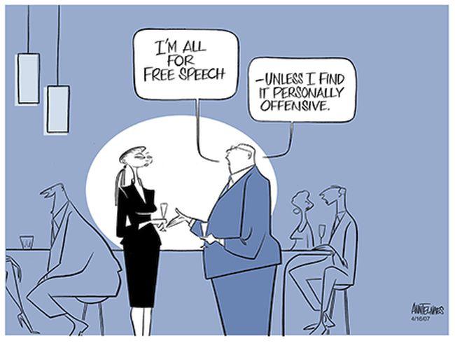 Free speech offensive 650