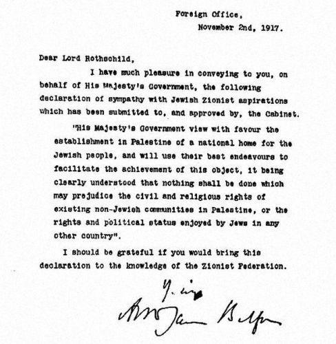The Balfour declaration as pure evil