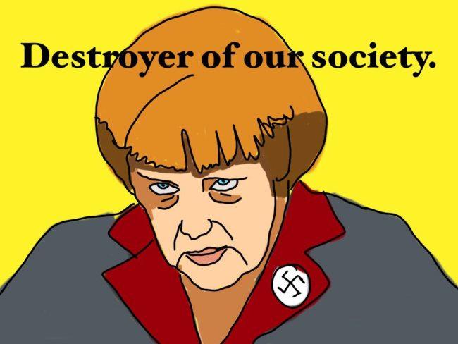 Merkel Nazi 650