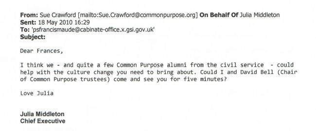 Proof: Common Purpose are at the Centre of Government, the Civil Service and the Conservative Party.