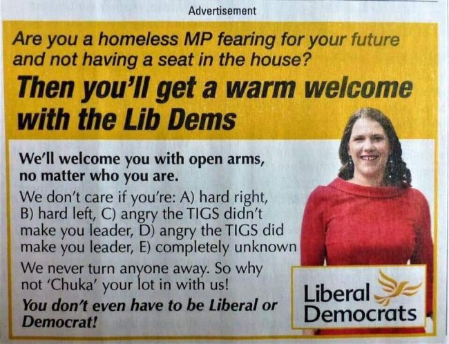Liberal Democrats = New Labour