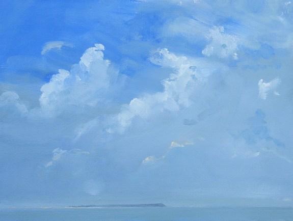 Blue Sky, Whitstable. Image size 36 x 26cm framed 59 x 49cm