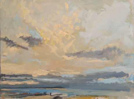 Early Evening, Whitstable. Image size 36 x 26cm framed 59 x 49cm