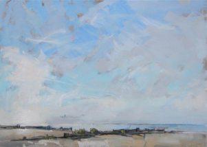 Big Blue Sky, Whitstable. Image size 36 x 26cm framed 59 x 49cm
