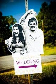 bryllups skilter