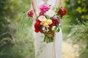 fargerikt bryllup