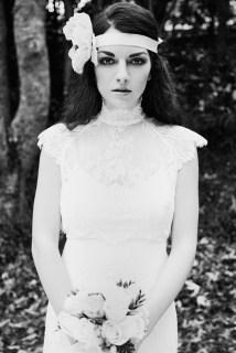 bohem vintage brudekjole