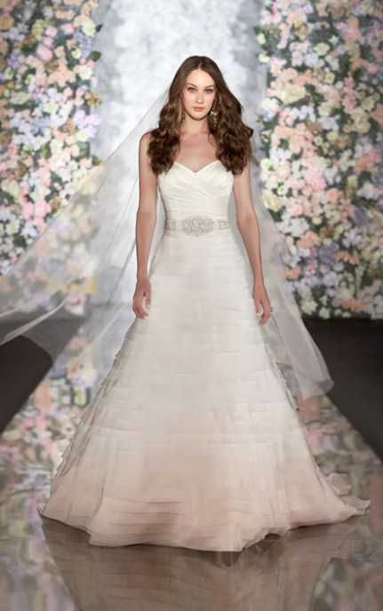 prinsesse brudekjole