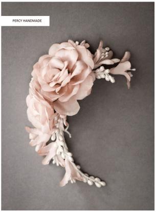 Percy handmade headpiece bryllup