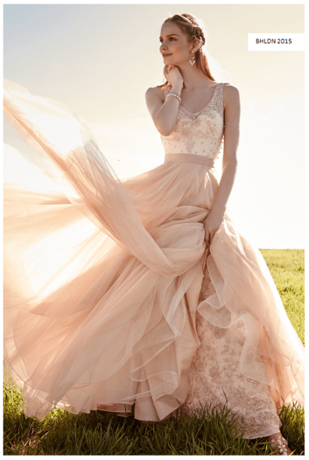 BHLDN blush brudekjole 2015