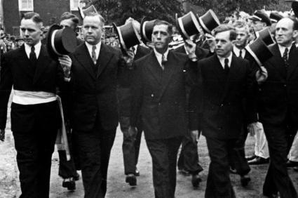 1951 Vereinte Freunde Kipshoven: Hubert Schmitz, Willi Klein, Heinrich Wilms, Franz Welters, Konrad Mühren, Theo Breuer