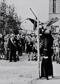 1954 Lothar Schlagheck beim Vogelschuss