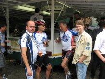 Bei der Pause. Links Ralf Kamphausen, Stammesleiter unserer Pfadfinderschaft und rechts Thorsten Grabowski als Vertreter der DPSG Beeck