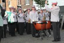2013 - Großer Zapfenstreich auf dem Kirchplatz, Musikverein Klinkum unter dem Dirigat von Kai Stoffels