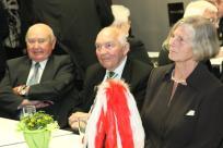 Friedel Wartmann, Lothar Schlagheck und Wilma Schlagheck beim Empfang vor dem Festbankett (v.l.n.r.)